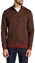 James Tattersall Mock Neck Zip Pullover Sweater