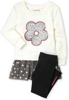 Flapdoodles Toddler Girls) 2-Piece Daisy Sequin Dress & Leggings Set