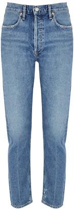 AGOLDE Jamie Blue Slim-leg Jeans