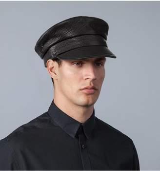 Eric Javits Leather Baltic Cap - Ml - Black