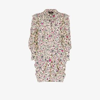 Isabel Marant Bruna print silk mini dress