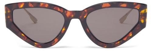 Christian Dior Catstyledior Tortoiseshell-acetate Sunglasses - Tortoiseshell