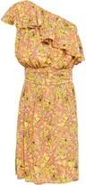 Vanessa Bruno Lou One-shoulder Ruffled Floral-print Woven Mini Dress