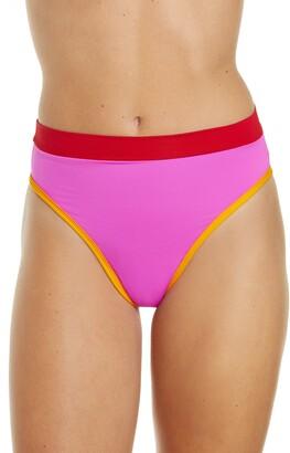 L-Space French Cut High Waist Bikini Bottoms