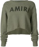 Amiri logo crop top