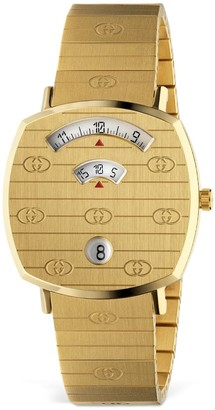 Gucci 35mm Grip Gold Colored Watch