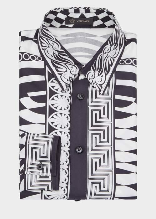 Versace Optillusion Silk Shirt