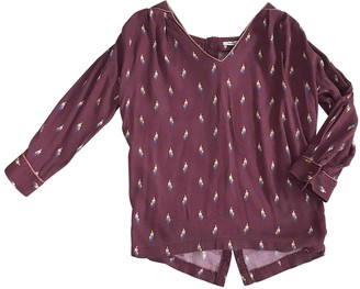 La Petite Francaise Burgundy Top for Women