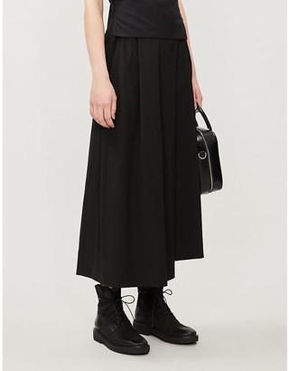 Isabel Benenato Wide-leg high-rise wool trousers