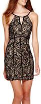 My Michelle Sleeveless Allover Lace Halter Dress - Juniors
