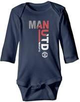 CONTOON Manchester United Man Utd MUFC Logo Newborn Romper Bodysuit