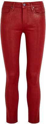 Paige Verdugo Red Coated Skinny Jeans
