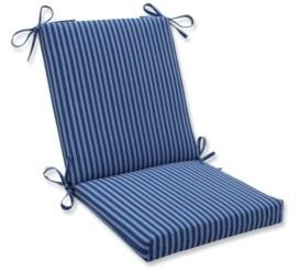 Pillow Perfect Resort Stripe Squared Corners Chair Cushion