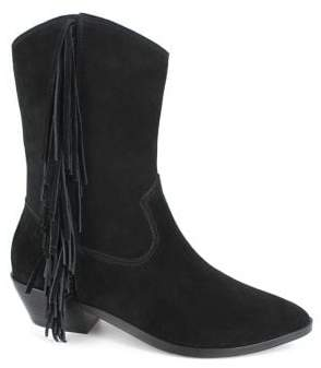 Nanette Lepore Nanette By Monica Fringe Suede Booties