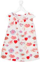 Max & Lola - lip print dress - kids - Cotton - 4 yrs