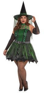 Amscan Spell Caster Witch Adult Women's Costume - Plus Size