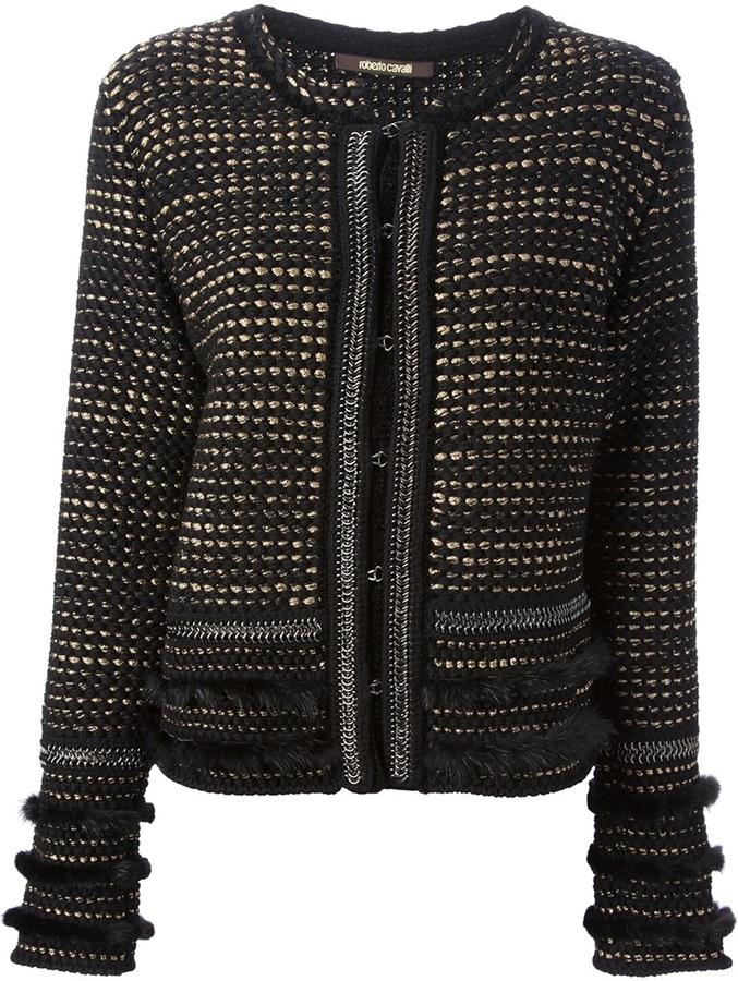 Roberto Cavalli tweed bouclé jacket