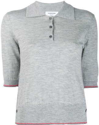 Thom Browne RWB-stripe polo shirt
