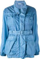 Tomas Maier denim belted coat