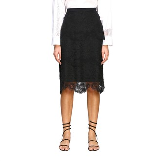 Ermanno Scervino Skirt Pencil Skirt In Lace With Flounces