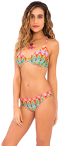 Luli Fama Sunkissed Laughter D-E Cup Underwire Adjustable Top In Multicolor (L445293)