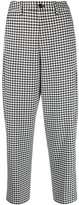 Closed gingham high waisted trousers