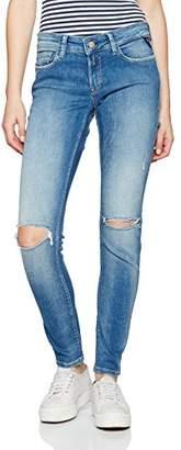 Replay Women's Luz Skinny Jeans, (Blue Denim 10), W/L32 (Size: )