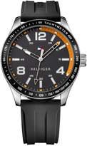 Tommy Hilfiger Men's Black Rubber Strap Watch 44mm 1791173