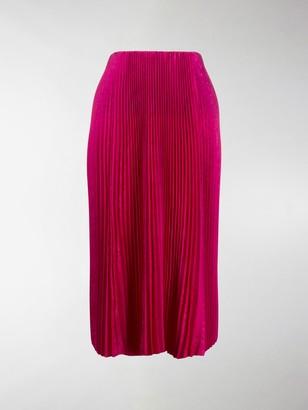 Balenciaga Pleated Mid-Length Skirt