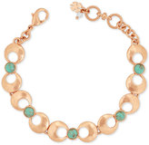 Lucky Brand Rose Gold-Tone Blue Stone Link Bracelet
