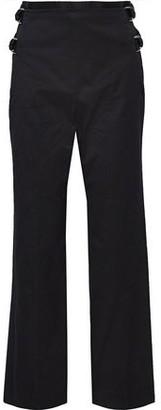 Helmut Lang Buckled Cotton-faille Straight-leg Pants