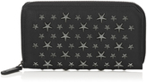 Jimmy Choo CARNABY Chalk Biker Leather Travel Wallet with Stars