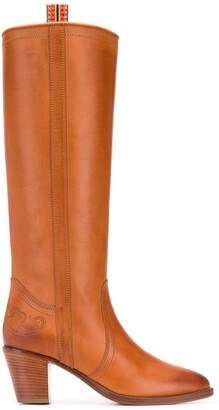 Etro Heeled Knee-High Riding Boots