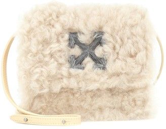 Off-White Jitney 0.7 Small shearling shoulder bag