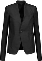 Rick Owens Wool-trimmed tweed blazer