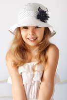 Marika Blue Flower Summer Hat