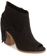 Marc Fisher Women's 'Onita' Fringe Peep Toe Bootie