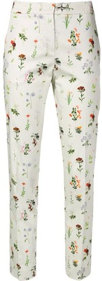 Fay Floral Print Trousers