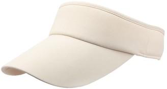 Winkey Women's Empty Top Sunhat Sport Headband Classic Sun Visor Caps Hat (Beige)