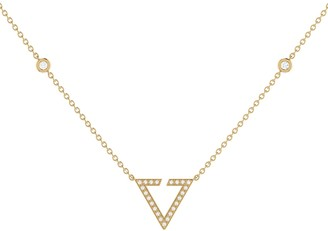 Lmj Skyline Necklace In 14 Kt Yellow Gold Vermeil On Sterling Silver
