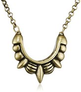 Pamela Love Small Tribal Spike Necklace with Chain of Length 40cm - Bronze