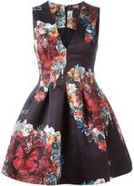 Philipp Plein floral and butterfly print dress