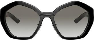 Prada Oversized Geometric Frame Sunglasses