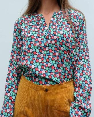 Primrose Park Sandy Open Shirt Multi Cupcake Silk - M
