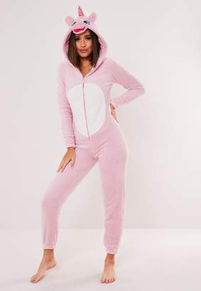 Missguided Pink Unicorn Pyjama Onesie