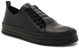 Ann Demeulemeester Leather Sneakers in Black.