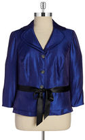 Adrianna Papell Shimmery Belted Blazer