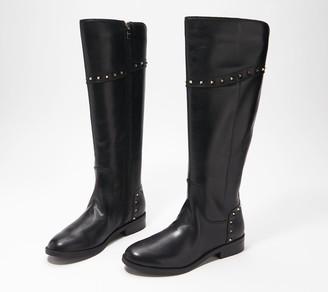 Marc Fisher Wide Calf Studded Tall Shaft Boots - Secalm