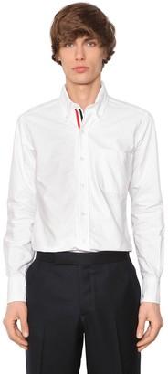 Thom Browne Grosgrain Cotton Oxford Shirt