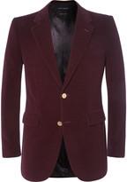 Marc Jacobs - Burgundy Slim-fit Cotton-corduroy Blazer